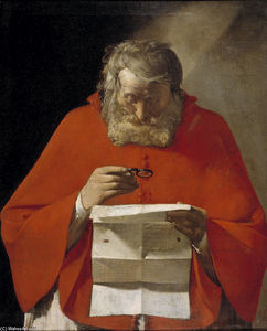 Georges De La Tour - Saint Jerome reading a letter