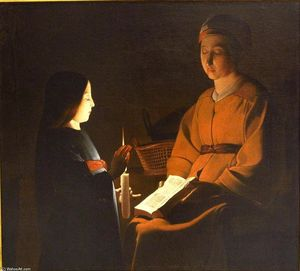 Georges De La Tour - Education of the Virgin