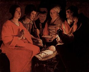 Georges De La Tour - The Adoration of the Shepherds