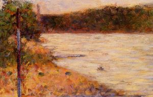 Georges Pierre Seurat - A River Bank (The Seine at Asnieres)