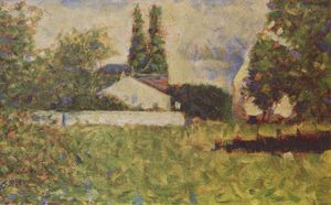 Georges Pierre Seurat - A house between trees