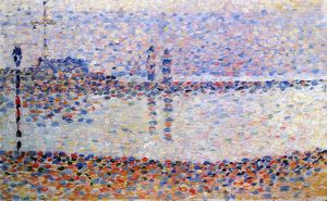 Georges Pierre Seurat - Study for -The Channel at Gravelines, Evening-