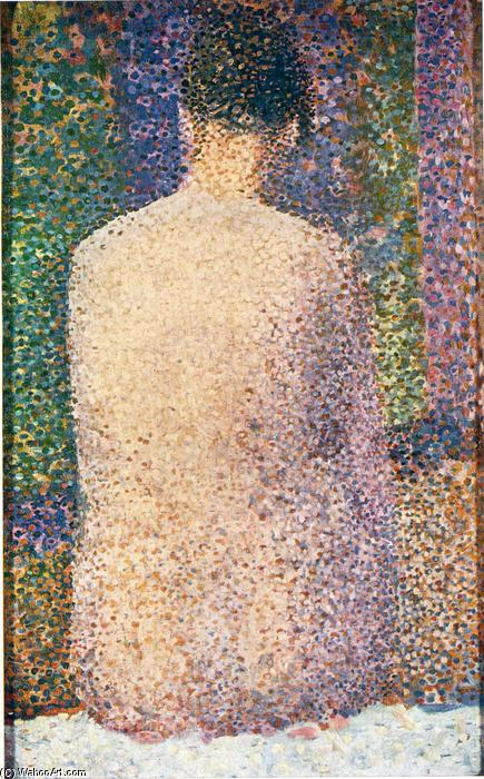 Order Oil Painting : Model from the Back, 1886 by Georges Pierre Seurat (1859-1891, France) | WahooArt.com