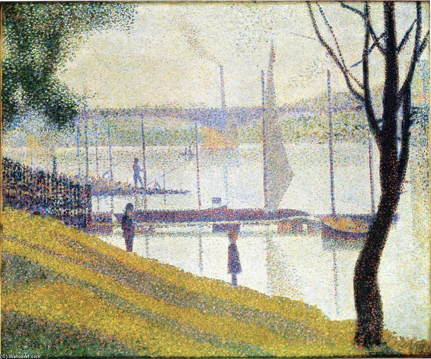 The Bridge at Courbevoie, Oil On Canvas by Georges Pierre Seurat (1859-1891, France)