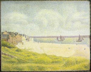 Georges Pierre Seurat - View of Crotoy, the Valley