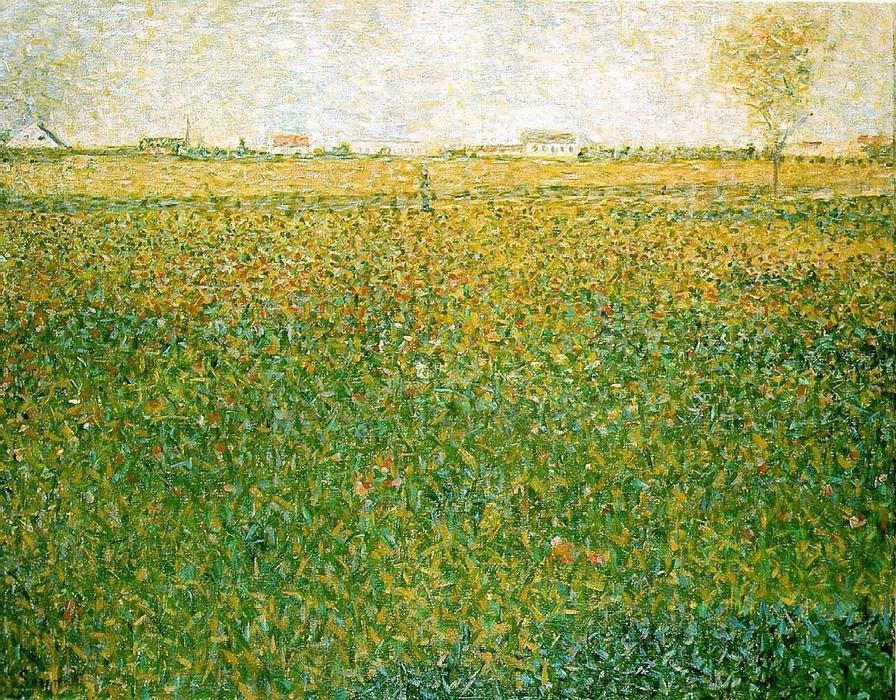 Alfalfa, St. Denis, Oil On Canvas by Georges Pierre Seurat (1859-1891, France)