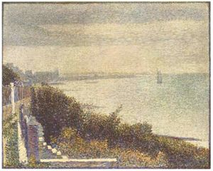 Georges Pierre Seurat - Grandcamp, Evening