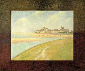Georges Pierre Seurat - View of Le Crotoy, from Upstream