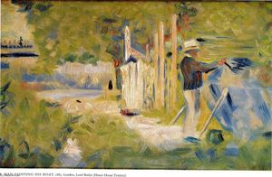 Georges Pierre Seurat - Man Painting his Boat