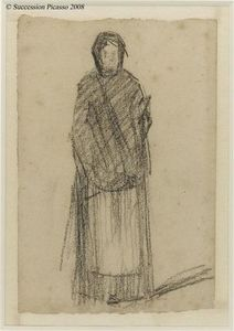 Georges Pierre Seurat - Woman standing