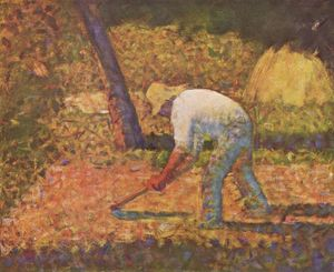 Georges Pierre Seurat - Peasant with Hoe