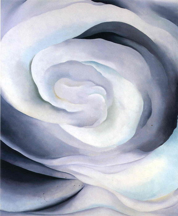 Abstraction White Rose by Georgia Totto O'keeffe (1887-1986, United States) | Oil Painting | WahooArt.com