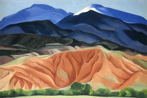 Georgia Totto O'keeffe - Black Mesa Landscape, New Mexico - Out Back of Mary`s II