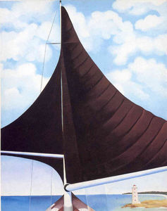 Georgia Totto O-keeffe - Brown Sail, Wing on Wing, Nassau