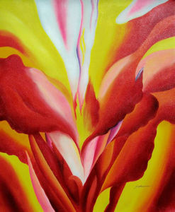Georgia Totto O-keeffe - Flowers of Fire