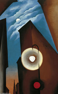 Georgia Totto O-keeffe - New York with Moon