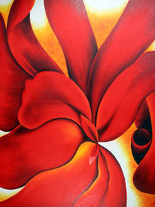 Georgia Totto O-keeffe - Red Cannas