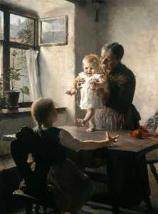 Georgios Jakobides - First Steps - (paintings reproductions)