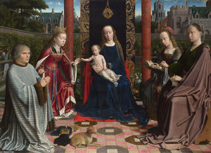 Gerard David - The Virgin and Child with Saints and Donor