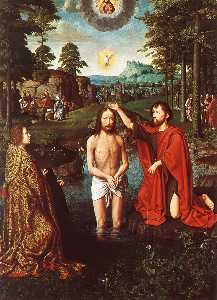 Gerard David - The Baptism of Christ (Central section of the triptych)