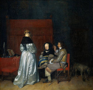 Gerard Ter Borch - Gallant Conversation (The Paternal Admonition)