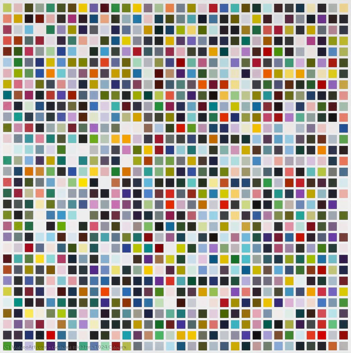 1024 Colours, 1973 by Gerhard Richter | Museum Quality Reproductions | WahooArt.com