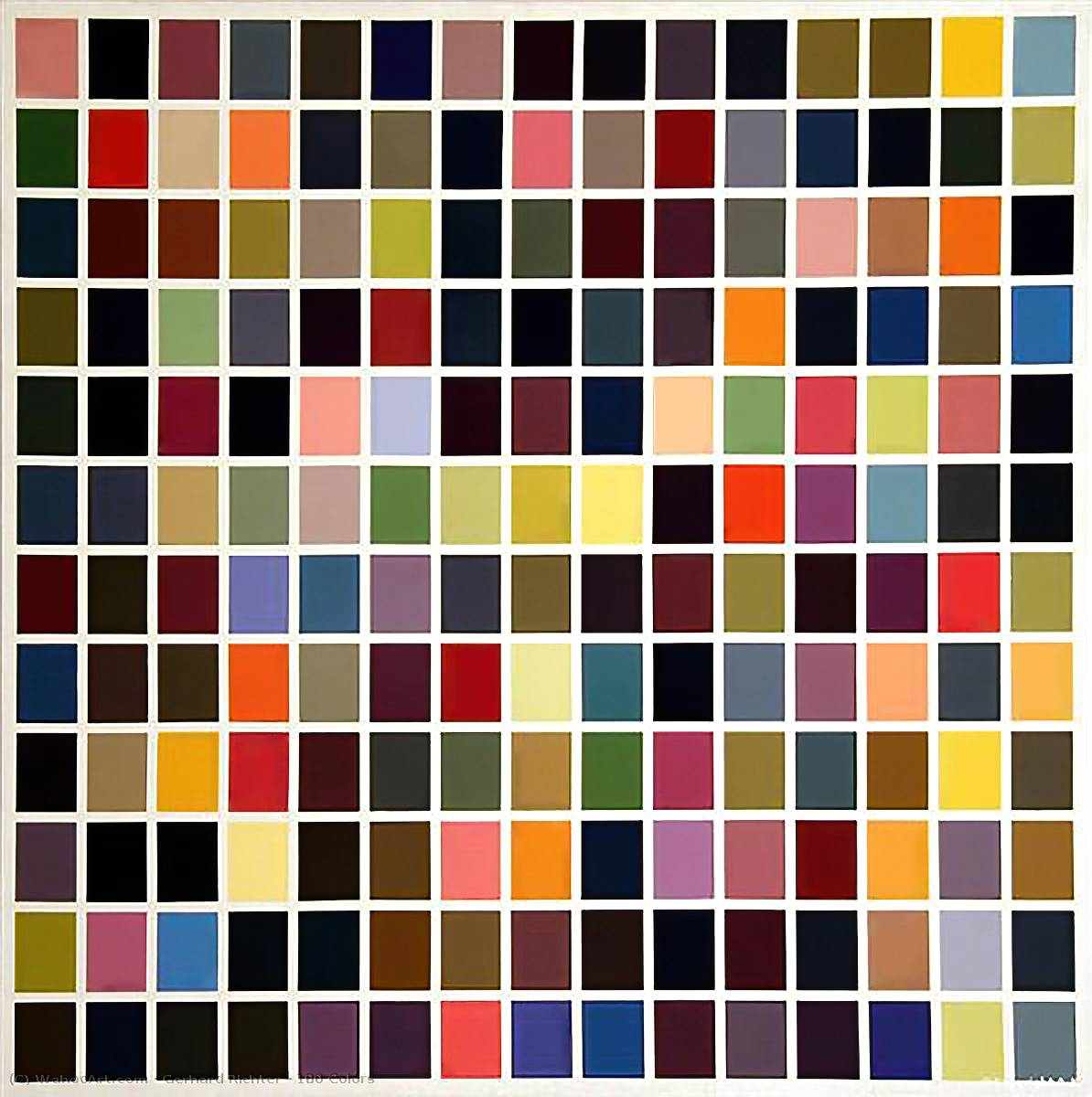 180 Colors by Gerhard Richter | Art Reproduction | WahooArt.com