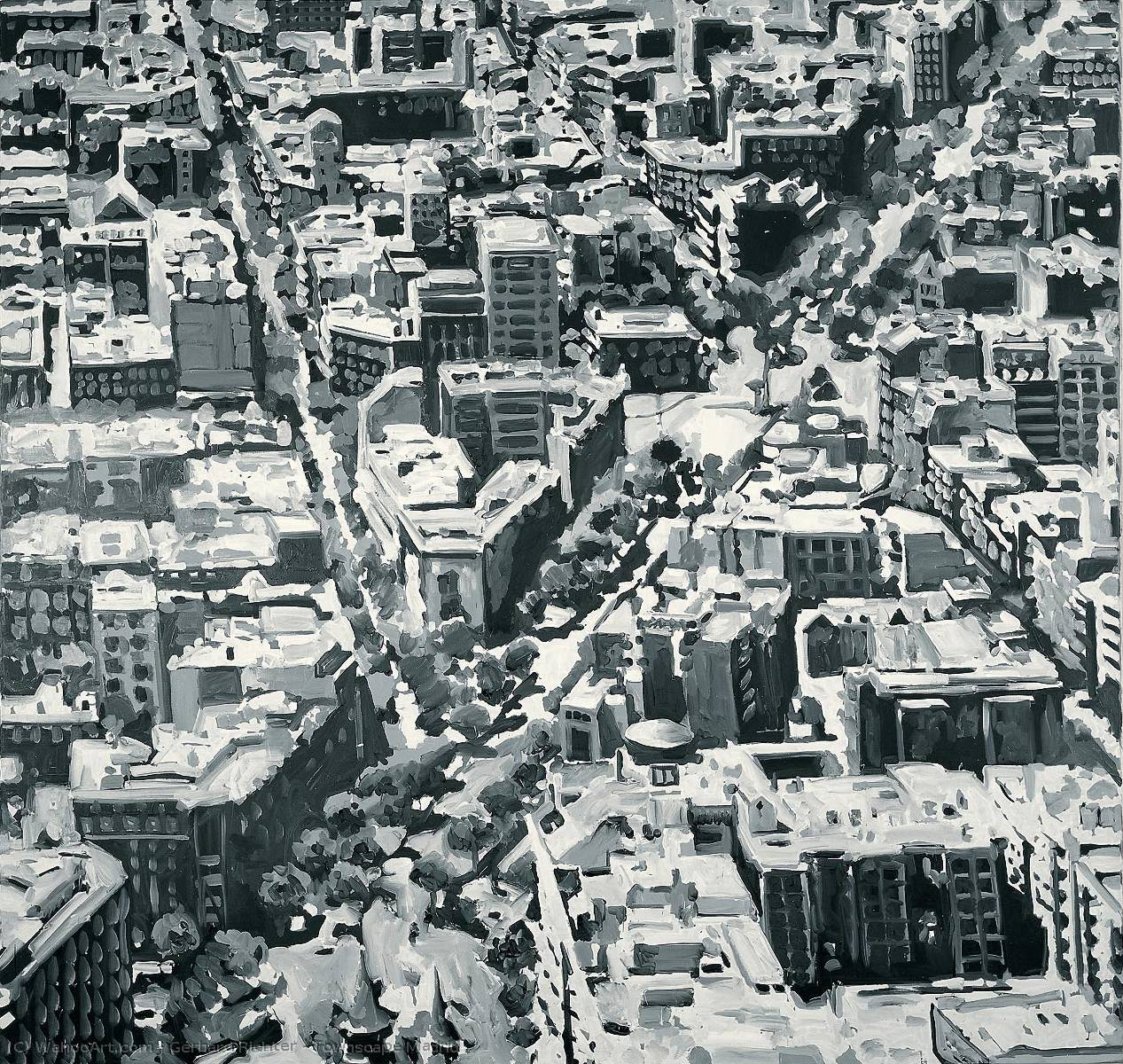 Townscape Madrid, 1968 by Gerhard Richter | Art Reproduction | WahooArt.com
