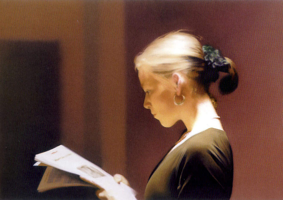Reading, 1994 by Gerhard Richter | Art Reproduction | WahooArt.com