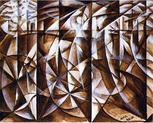 Giacomo Balla - Velocity of Cars and Light