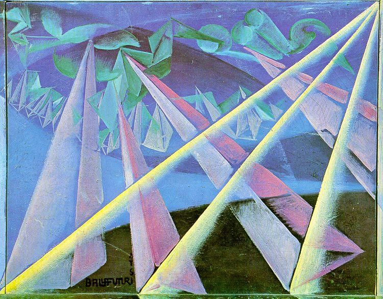 Spirit-form transformation, 1918 by Giacomo Balla (1871-1958, Italy) |  | WahooArt.com
