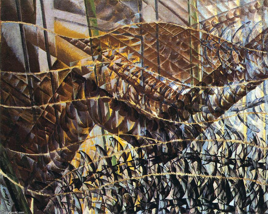 Swifts: Paths of Movement + Dynamic Sequences, 1913 by Giacomo Balla (1871-1958, Italy) |  | WahooArt.com