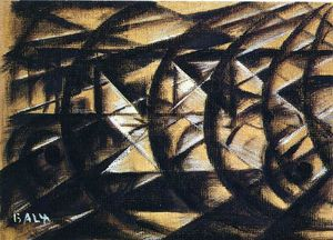 Giacomo Balla - Speed of a Motorcycle (study)