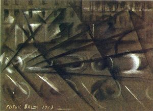 Giacomo Balla - Speed of an Automobile (study)