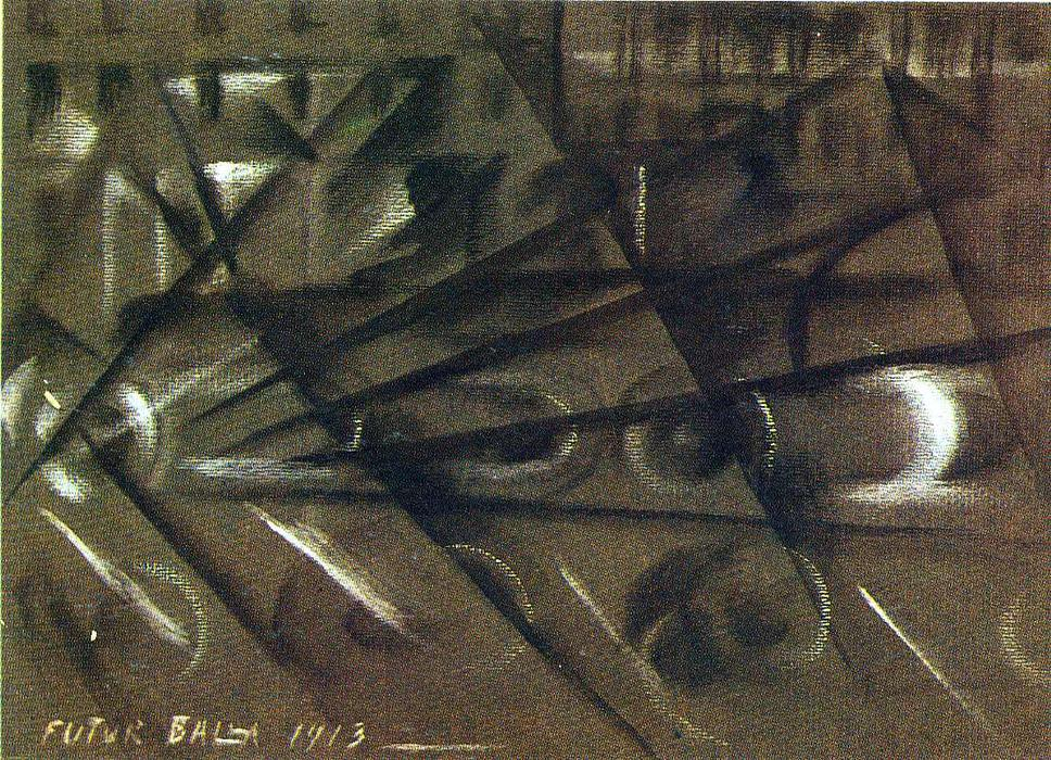Speed of an Automobile (study), 1913 by Giacomo Balla (1871-1958, Italy) |  | WahooArt.com