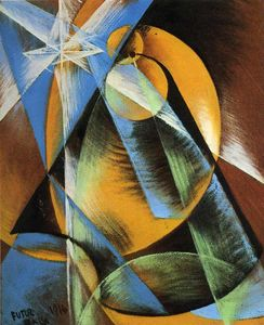 Giacomo Balla - Planet Mercury passing in front of the Sun