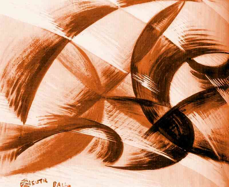 Synthesis of movement, 1914 by Giacomo Balla (1871-1958, Italy) |  | WahooArt.com