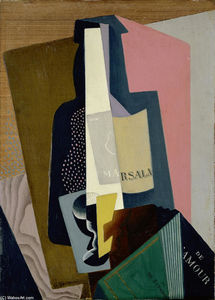 Gino Severini - Still Life with Marsala Bottle
