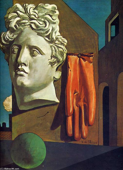 The Song of Love, Oil On Canvas by Giorgio De Chirico (1888-1978, Greece)