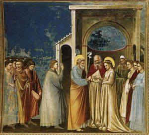 Giotto Di Bondone - The Marriage of the Virgin