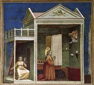 Giotto Di Bondone - Annunciation to St Anne