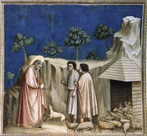 Giotto Di Bondone - Joachim among the Shepherds