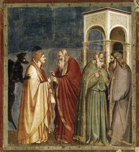 Giotto Di Bondone - Judas Receiving Payment for his Betrayal