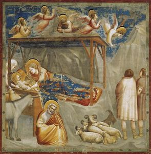 Giotto Di Bondone - Nativity. Birth of Jesus