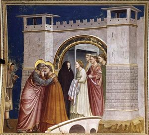 Giotto Di Bondone - The Meeting at the Golden Gate