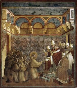 Giotto Di Bondone - Confirmation of the Rule