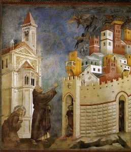 Giotto Di Bondone - Exorcism of the Demons at Arezzo