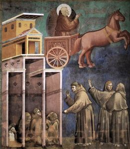 Giotto Di Bondone - Vision of the Flaming Chariot