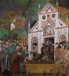 Giotto Di Bondone - St. Francis Mourned by St. Clare