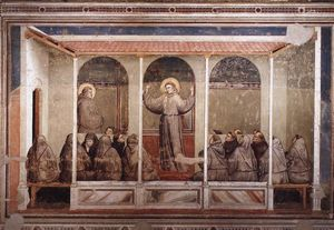 Giotto Di Bondone - St. Francis Appears to St. Anthony in Arles